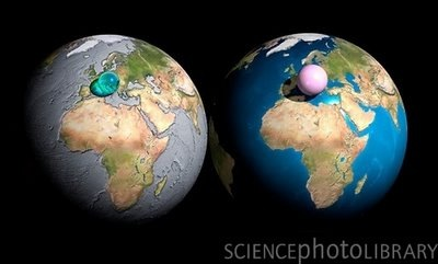 Water and Air Volume on Earth