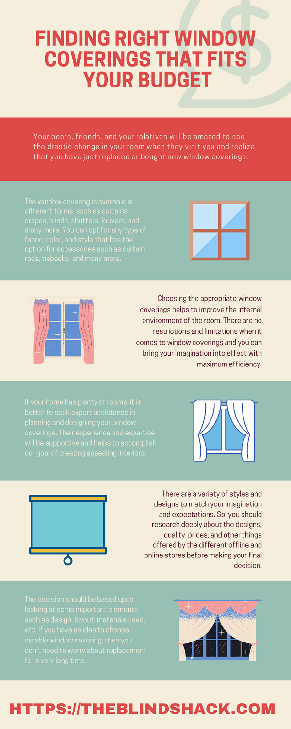 Finding Right Window Coverings That Fits Your Budget